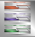 set of conceptual cover template for presentations vector image vector image