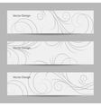 Set of horizontal banners with swirl pattern vector image