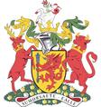 Somerset County Coat-of-Arms vector image vector image