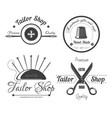 tailor shop logo for dressmaker atelier and vector image vector image