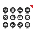 Travel icons on white background vector image vector image