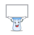 up board baby bottle character cartoon vector image