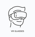 vr glasses flat line icon outline vector image
