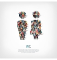 wc people sign vector image vector image