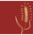 Wheat gold vector image