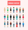woman avatar set vector image vector image