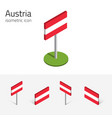 austrian flag set of 3d isometric icons vector image