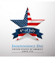 4 th july usa star in national colors america vector image vector image