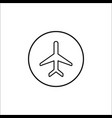 airplane mode line icon mobile sign vector image vector image