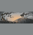 Apocalyptic landscape vector image vector image