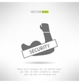 Arm with strong biceps security idea T-shirt vector image vector image