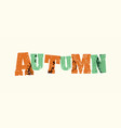 autumn concept stamped word art vector image vector image
