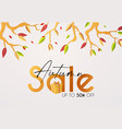 autumn sale season offer flyer template vector image vector image