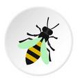 bee icon circle vector image