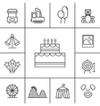 Birthday and celebration icons vector image vector image