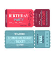 birthday party welcome set vector image vector image