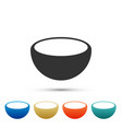bowl icon isolated on white background vector image vector image