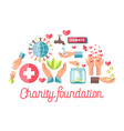 charity foundation promotional poster with small vector image vector image