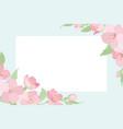 cherry sakura tree blossom template corner frame vector image vector image