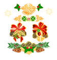 christmas and new year decoration with ornaments vector image vector image
