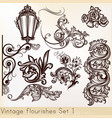 collection vintage design elements vector image vector image