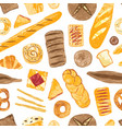 colorful seamless pattern with tasty homemade vector image vector image
