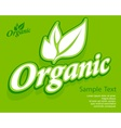 Concept organic banner vector image vector image