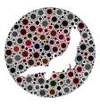 coronavirus hole circle honshu island map mosaic vector image vector image