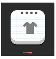 cotton t-shirt icon gray icon on notepad style vector image vector image