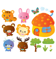 Cute animals collection vector | Price: 3 Credits (USD $3)