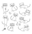 cute cats digital stamps vector image vector image