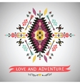 Decorative colorful element in aztec style vector image vector image