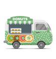 donat street food caravan trailer vector image vector image