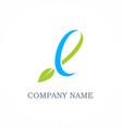 ecology green leaf logo vector image vector image
