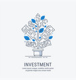 financial investment vector image vector image