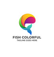 fish colorful design concept template vector image vector image