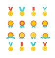 Gold medal award collection isolated vector image vector image