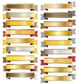 Gold vintage ribbon banner vector image vector image