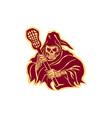 Grim Reaper Lacrosse Defense Pole Retro vector image vector image