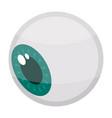 halloween eye icon isometric style vector image