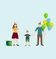 happy family celebrating birthday vector image vector image