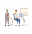 hard day in the office - modern cartoon people vector image vector image