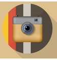 Hipster colorful realistic photo camera icon with vector image
