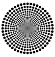 Hypnotic circle vector image