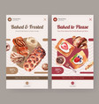 instagram template with bakery design for online vector image vector image