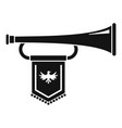 knight trumpet icon simple style vector image vector image