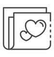 like folder icon outline style vector image