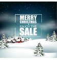 merry christmas sale background vector image vector image