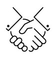 monochrome agreement icon vector image