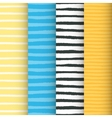 Painted stripes seamless patterns set vector image vector image
